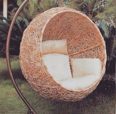 Swing Seat, Wicker Baskets, Coconut, Fruit, Home Decor, Interior Design, Home Interior Design, Home Decoration, Decoration Home