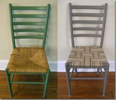 DIY: Jute Webbing chair seat to cover all of those broken wicker seat chairs