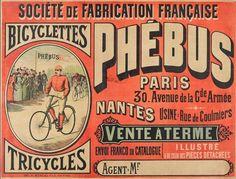 Vintage Labels, Vintage Ephemera, Vintage Posters, Illustration Photo, Image Hd, Bicycle Art, Bike, Fine Paper, Typography