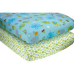Little Bedding by NoJo Ocean Dreams Set of 2 Crib Sheets - Walmart.com $15