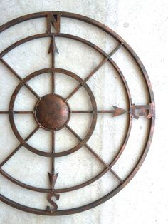 "42"" Compass, Metal Compass, Nautical Decor, Metal Compass Wall Art, Compass Wall Art, Nautical Compass, Nautical Wall Decor, Rustic, Compass by honeywoodhome on Etsy https://www.etsy.com/listing/243757996/42-compass-metal-compass-nautical-decor"