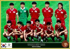 South Korea team group at the 1990 World Cup Finals.