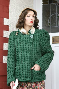 Ravelry: Box Coat pattern by Susan Crawford. Love this oversized vintage pattern, simple, yet lots of texture and visual interest with this pattern.