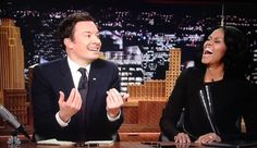 #FirstLady #FLOTUS Of The United States  Of America #MichelleObama making her #FINAL #VISIT as the #NATION #FIRSTLADY to The #TonightShow With #JimmyFallonShow on #Wednesday #January11th #2017 Featured Plenty Of #ThankYou #JerrySeinfeld #DaveChappelle #StevieWonder