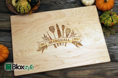 Personalized Cutting Board with Kitchen Utensil Design #bloxstyle