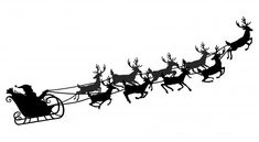 Santa flying in a sleigh with reindeer. ... | Premium Vector #Freepik #vector #background #christmas #winter #snow Christmas Photo Props, Merry Christmas Background, Merry Christmas Banner, Christmas Labels, Christmas Past, Christmas Decorations, Santa Sleigh Silhouette, Christmas Tree Silhouette, Reindeer And Sleigh