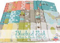 Take a walk in Bluebird Park by Kate & Birdie Paper Co. for Moda Fabrics