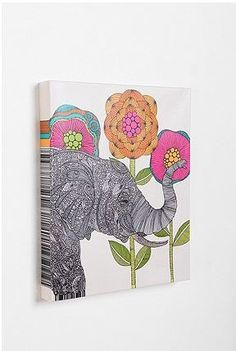 Boho elephant art.  I never really imagined that I would like anything like this, but I love this.