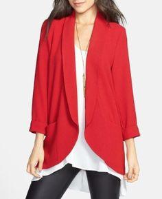 Lipstick red blazer for work or weekend :)