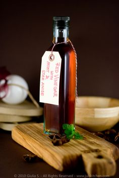 star anise and mint infused vinegar