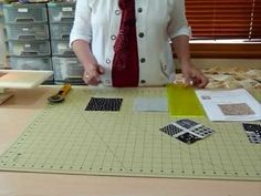 """How to make a cross-patch block using 5"""" squares - Quilting Tips & Techniques 019"""