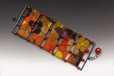 Autumn+Poppies by Julie+Long+Gallegos: Beaded+Bracelet available at www.artfulhome.com