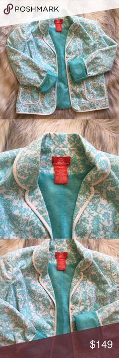 Oscar de la Renta blazer Oscar de la Renta blazer.....super cute floral print Oscar de la Renta Jackets & Coats Blazers