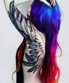 Best Back Tattoos for Men and Women Cool Back Tattoo Designs and Ideas Updated Daily- Angel Wings Tattoo Sexy Tattoos, Trendy Tattoos, Body Art Tattoos, Tattoos For Women, Black Crow Tattoos, Angel Tattoo For Women, Tattoos Skull, Dragon Tattoos, Small Tattoos