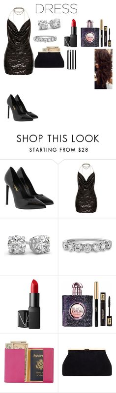 """""""Choker Dress"""" by xxkimmydxx ❤ liked on Polyvore featuring Yves Saint Laurent, NARS Cosmetics and Royce Leather"""