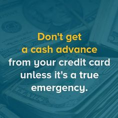 credit card cash advance rules