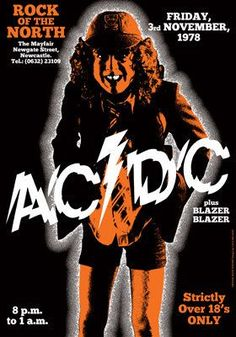 AC/DC Concert Poster https://www.facebook.com/FromTheWaybackMachine