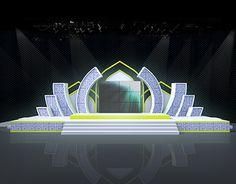 Stage design for Maolid Fair @ Krabi Tv Set Design, Stage Set Design, Church Stage Design, Booth Design, Event Design, Stage Backdrop Design, Stage Lighting Design, Entrance Design, Concert Stage Design