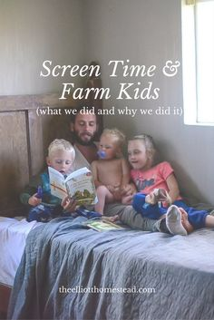 """Instead of screen time, we now have participation. They're weeding the garden, feeding the animals, cleaning their rooms, """"helping"""" with dishes and kitchen tasks, and PLAYING."""