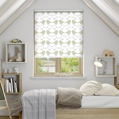 Byebye Birdy Neutral Blackout Roller Blind from Blinds 2go