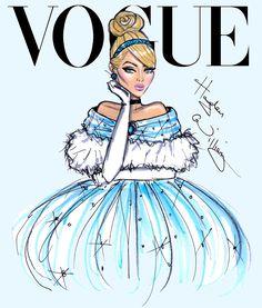 Princesas Disney na revista Vogue - Cinderela