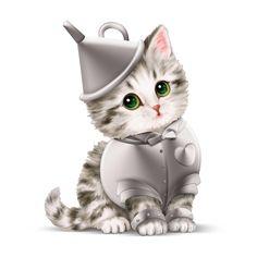 Amazon.com - Kayomi Harai Kitten: Off To See The Wizard Oz Scarecrow Figurine by The Hamilton Collection -