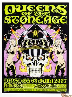 Queens of ther Stone Age 2007 Jul 1 Paradiso Amsterdam Poster Alan Forbes signed numberd
