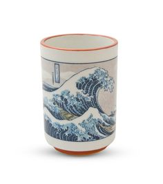 Hokusai Woodblock Print Great Wave Japanese Tea Cup - Good Life Tea