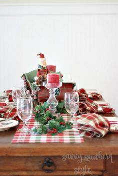 Christmas Breakfast Table and Tour. savvy southern style 2015