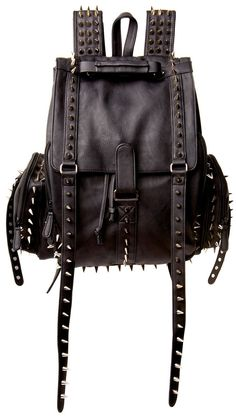 spiked backpack.