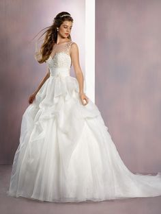 Wedding gown by Alfred Angelo Disney Fairy Tale Weddings Bridal Collection.