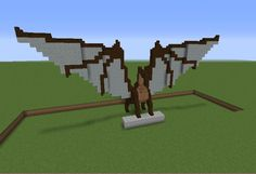 Dragon Statue 2 - GrabCraft - Your number one source for MineCraft buildings, blueprints, tips, ideas, floorplans!
