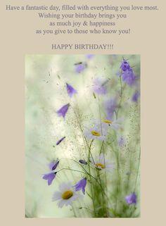 Happy birthday card with wildflowers