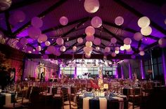 cool colors and lantern for the reception