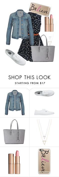 #139 by potato-cupcake on Polyvore featuring Vans, Michael Kors, Casetify and Charlotte Tilbury