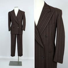 vintage mens 1940s suit HOLLYWOOD STYLED by LivingThreadsVintage
