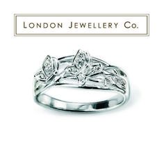 #925 #Sterling #Silver Clear #Cubic #Zirconia #Butterfly #Ring, from the #London #Jewellery Company