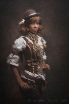 christophermarkperez: Fleur de péché ~ Steampunk Lolita  Love that vest!