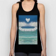 Ocean Blue Beach Dreams Unisex Tank Top by sharonmau Blue Beach, Ocean Beach, Hawaii Beach, Manipulation Photography, Beach Tops, Black Media, Water Resources, Cool Designs, Aqua