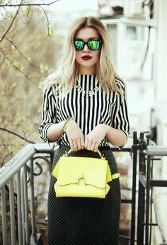 Fall 2013 Trend: Black and White Street Style Fashion #7LooksFallChallenge