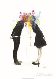 Big Bang Kiss Art by Lora Zombie - at AllPosters.com.au