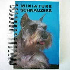 A miniature schnauzer journal!? Only one left, available on our website. #journaling #dogs #dogsofpinterest
