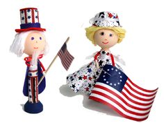 uncle sam craft | Clothespin Doll Designs for Independence Day by Montanye Arts