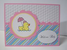 Stampin Up Easy Events baby card