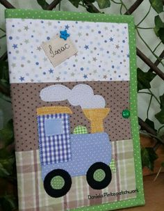 Boy Quilts, Mini Quilts, Kids Cards, Baby Cards, Hobbies And Crafts, Crafts For Kids, Punch Art, Quilt Patterns, Patches