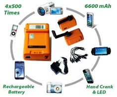 Certified 1 USB 6600MAH & Add 4 Full Charges to IPHONE/IPAD/Most MOBILE DEVICES Portable Ourdoor Emergency Hand Crank Generator With Wall Ch...  http://www.prepareforapocalypse.com/index.php?c=1328&n=5006643011&i=B00ITU0CLA&x=Certified_1_USB_6600MAH_Add_4_Full_Charges_to_IPHONE_IPAD_Most_MOBILE_DEVICES_Portable_Ourdoor_Emergency_Hand_Crank_Generator_With_Wall_Charger_and_10_In_1_Multi_brand_Connector_500+_Times_High_Qualit
