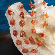 Sundrop Carnelian Necklace 27012 | Stauer.com