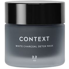Context White Charcoal Detox Mask (£34) ❤ liked on Polyvore featuring beauty products, skincare, face care, face masks, beauty, makeup, faces, filler, no color and moisturizing facial mask