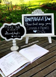 Ceremony Entry Table #greger2loo #vintage #chalkboard #wedding #ceremonyentrytable #guestbooksign #unpluggedwedding #creations #lisatmccurdy