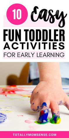 Are you looking for fun and learning activities to do with your toddler that you can easily do at home? Trying to keep toddlers busy at home for long is a difficult task as they often get bored too easily. In this blog post, I have shared ten easy to do toddler activities that can help them learn new skills as well. All these activities are simple to set up and mostly require stuff lying around your home and are very engaging too. #toddleractivities #playandlearn #earlylearningactivities